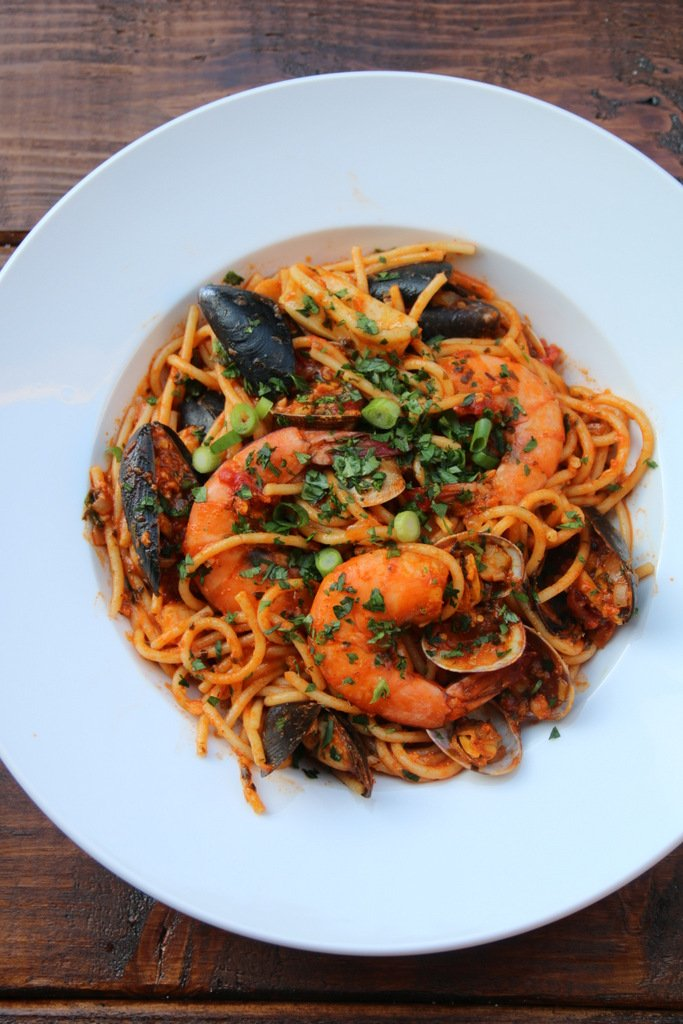 Recipe for seafood spaghetti