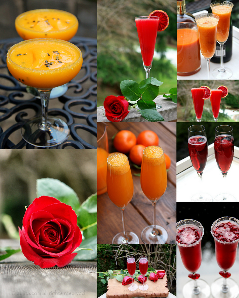 Valentine s day cocktails drink recipes laylita 39 s recipes for Wine and orange juice name
