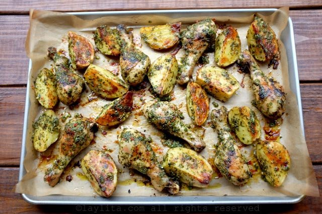 Chimichurri roasted drumsticks