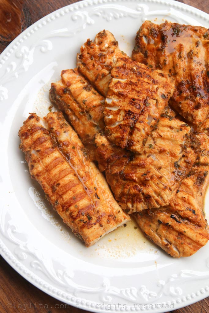 Citrus marinated grilled fish recipe