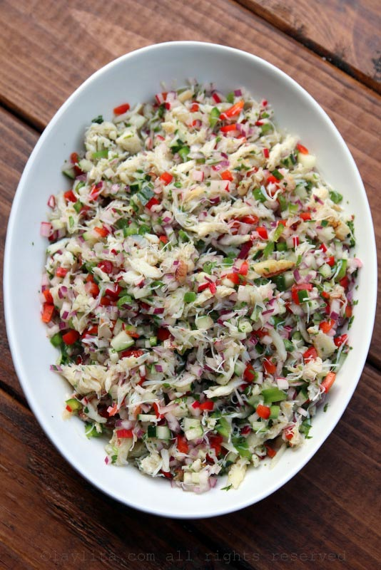 Crab salad to using as a filling for stuffed avocados