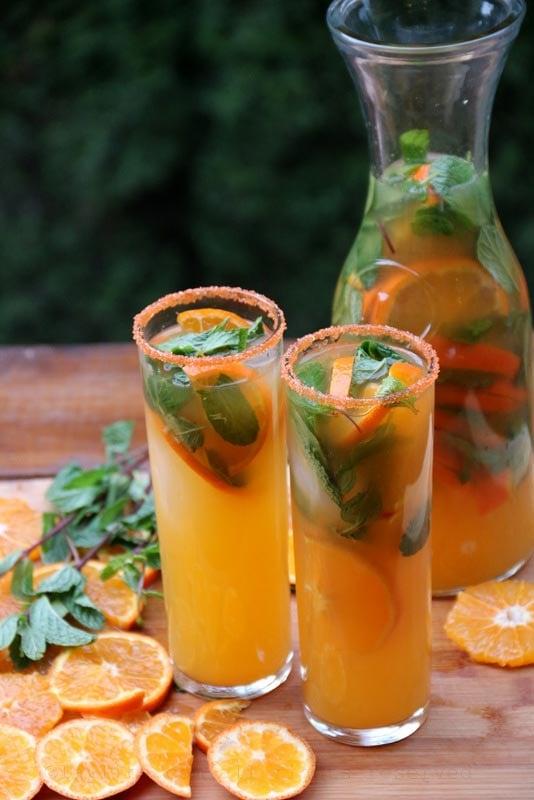 Cocktail mojito de mandarine