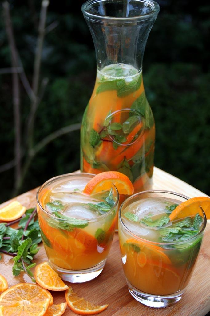 Mandarin, tangerine or clementine mojitos