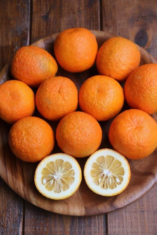 Sour oranges, bitter oranges, Seville oranges, or naranja agria