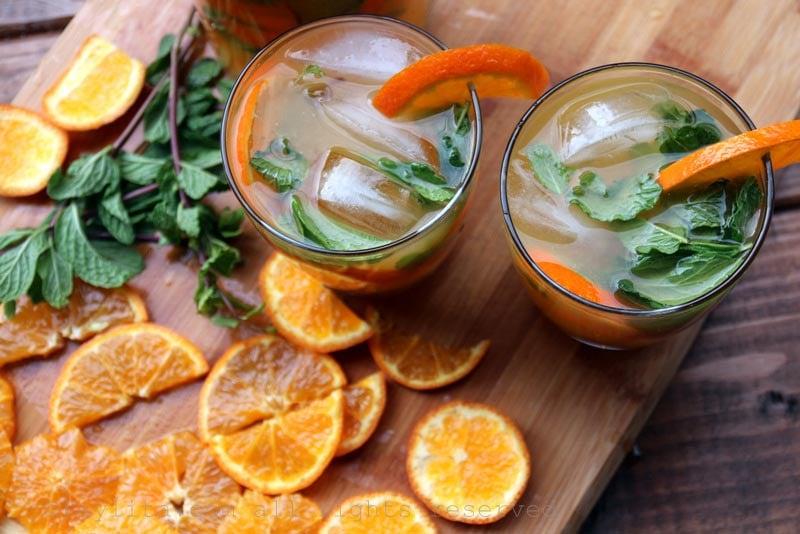 Tangerine, mandarin or clementine mojitos