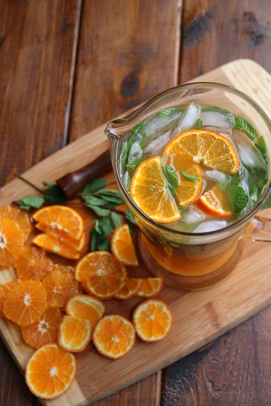 Tangerine mojitos