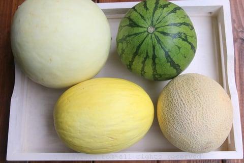 Les melons pour faire la sangria de melon