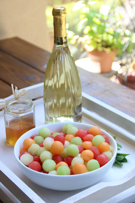 Melon moscato sangria for summer