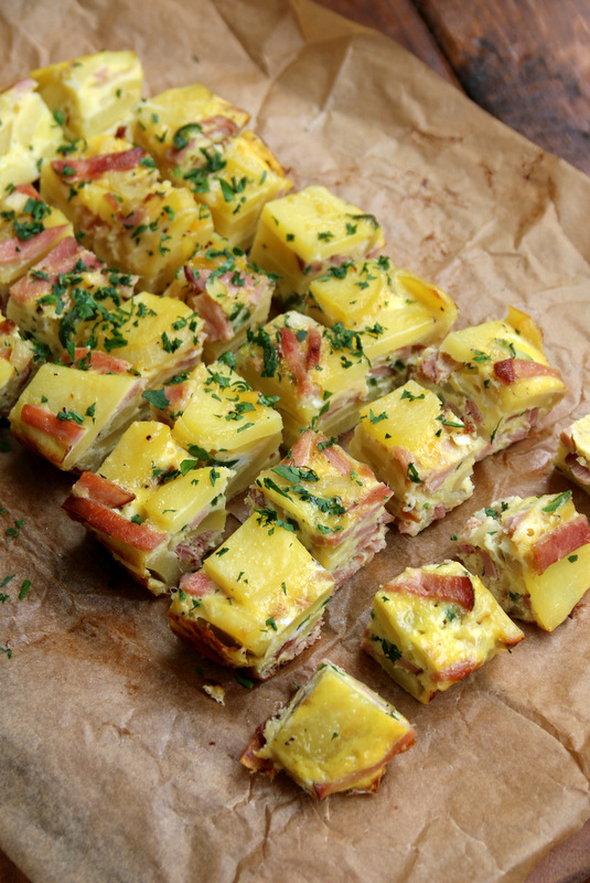 Potato and ham tortilla tapas