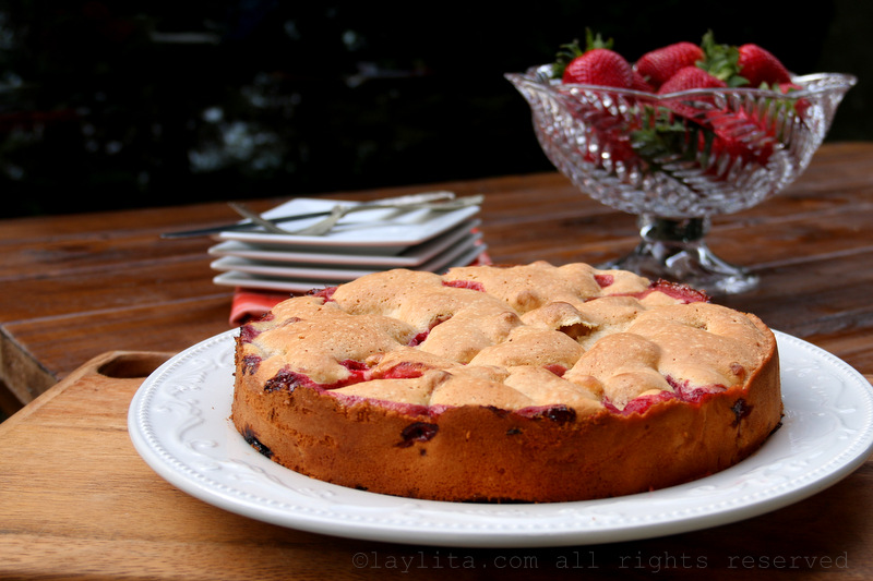 Step By Preparation Photos For This Simple French Strawberry Cake