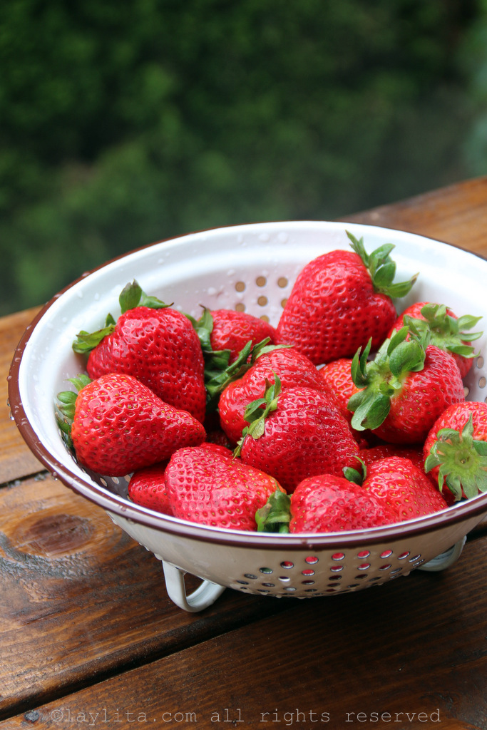 Fresh ripe strawberries for popsicles