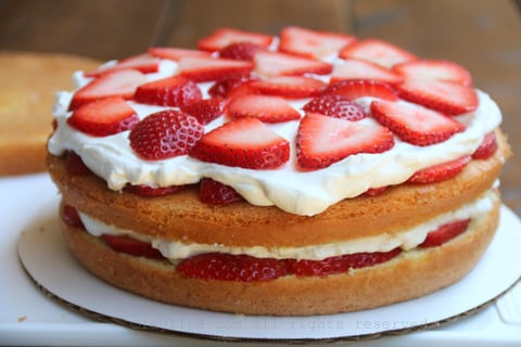 Add another layer of cake and repeat the process