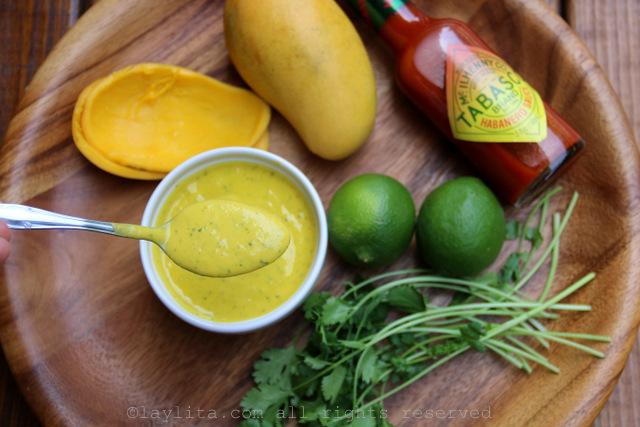 Spicy mango sauce with Tabasco Habanero sauce