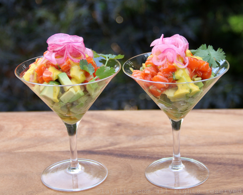 Avocado salmon tartare recipe