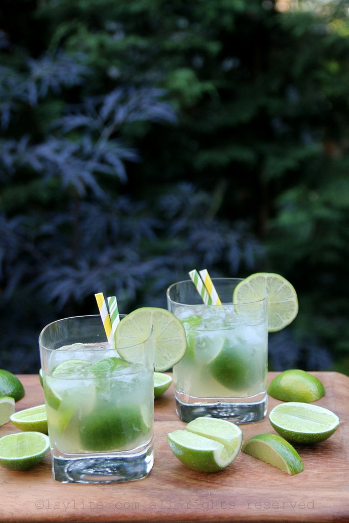 Brazilian caipirinha cocktail