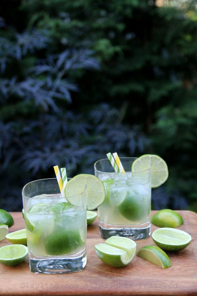 Brazilian caipirinha cocktails