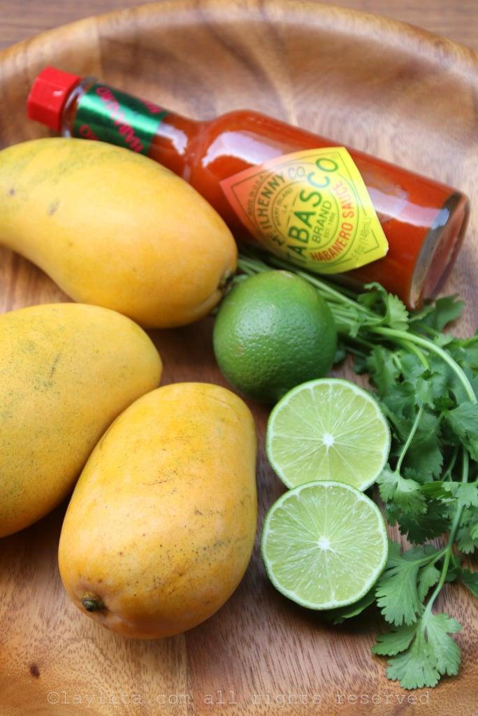 Mango habanero sauce ingredients