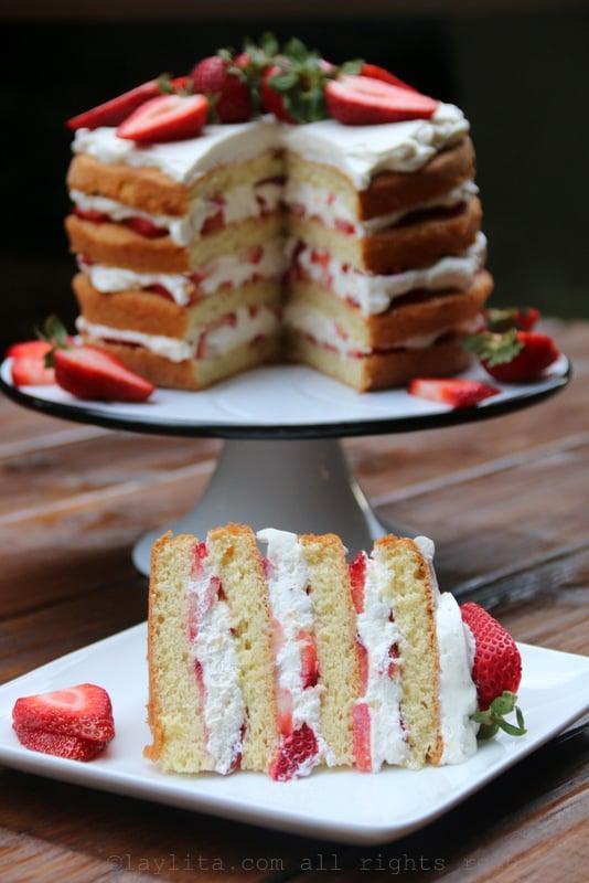 Strawberries and cream shortcake
