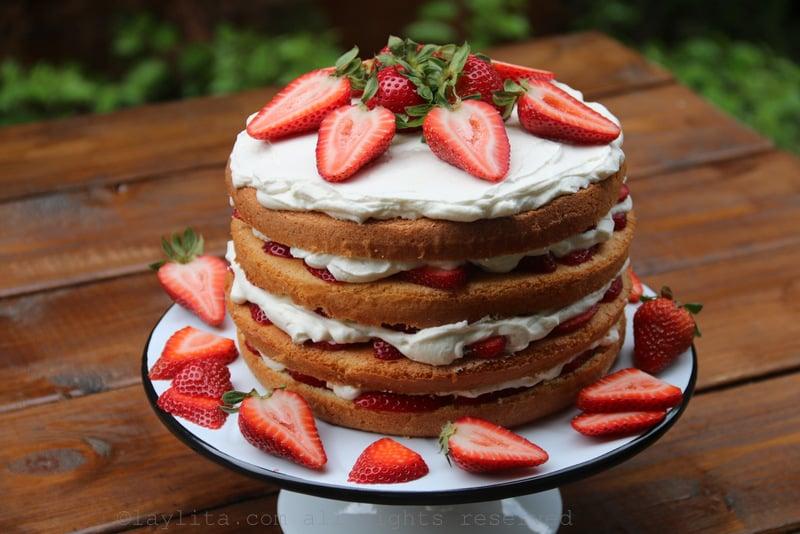 Strawberry tall cake recipe