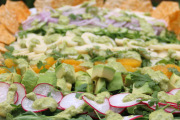 Mixed salad with avocado cilantro dressing