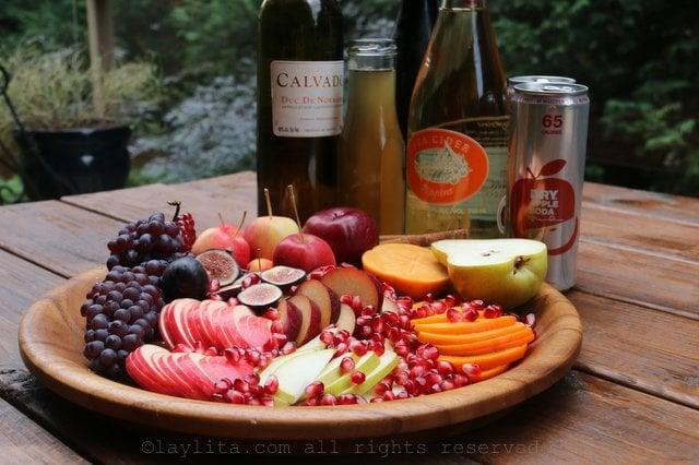 Ingredients for hard apple cider sangria