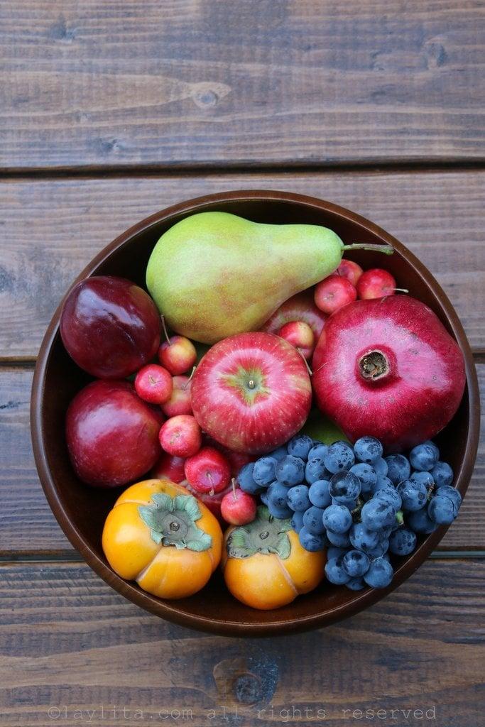 Assorted fall fruit inspiration for sangria