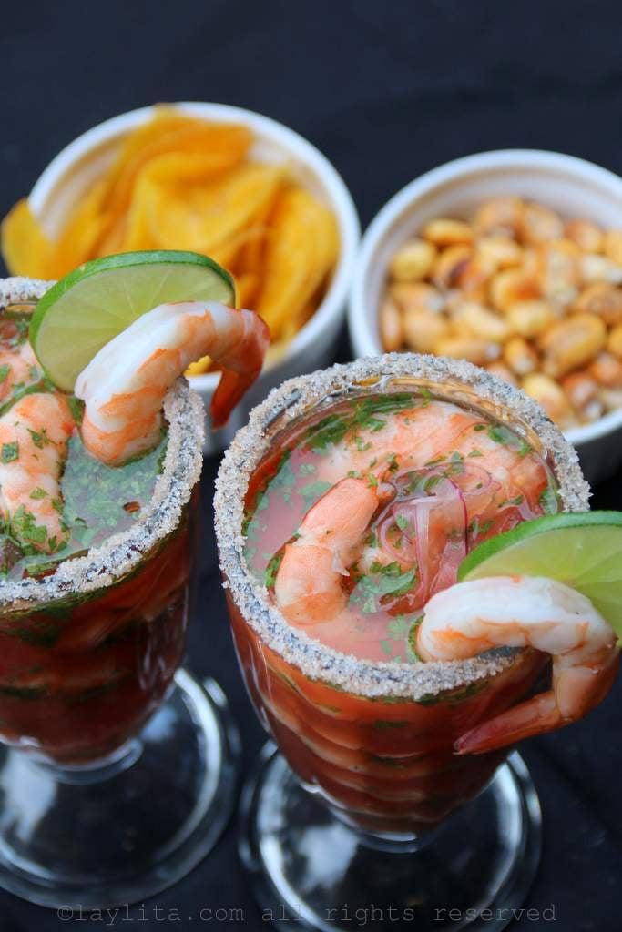 Bloody Maria shrimp ceviche