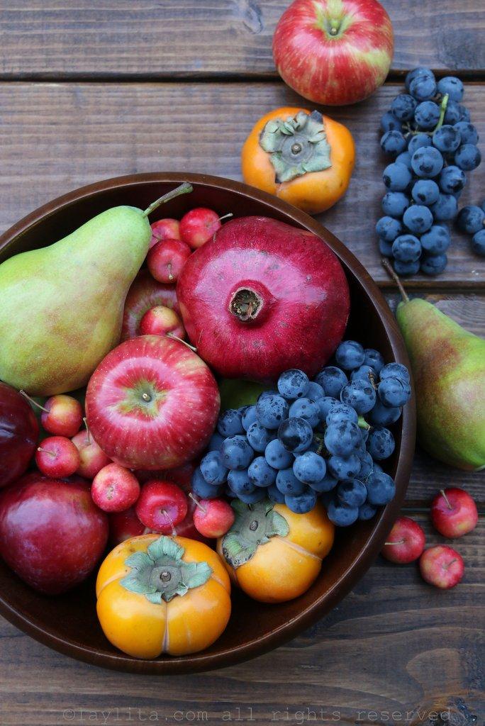 Fall fruit assortment
