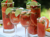 Latin style Bloody Mary ceviche