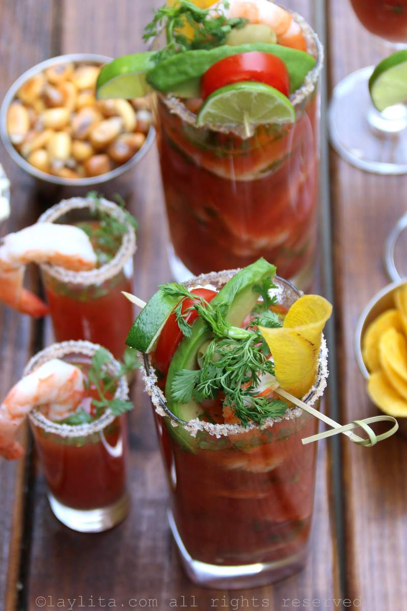 Shrimp Bloody Mary cocktail