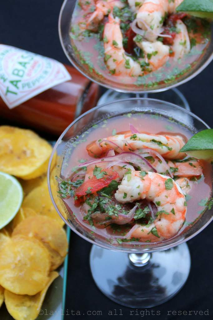 Bloody Mary Shrimp Ceviche