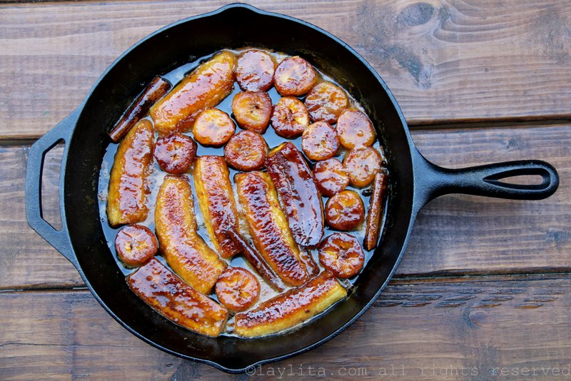 Recipe for caramelized plantains