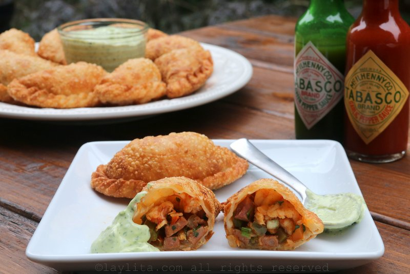 Spicy Louisiana inspired empanadas
