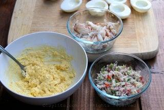 Agregue la ensalada de cangrejo