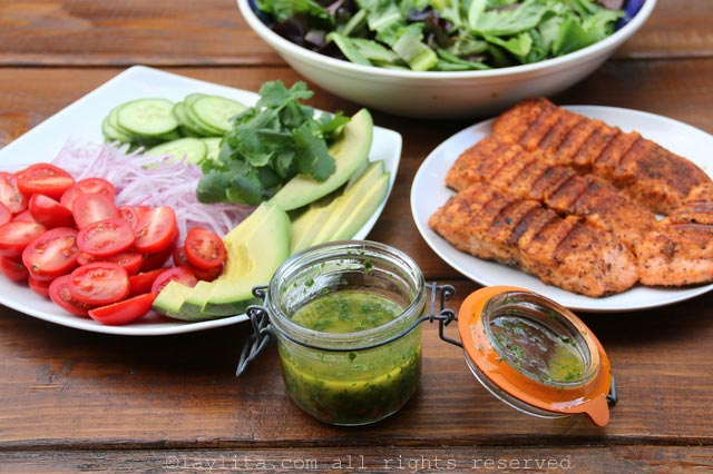 Spicy cumin lime cilantro dressing