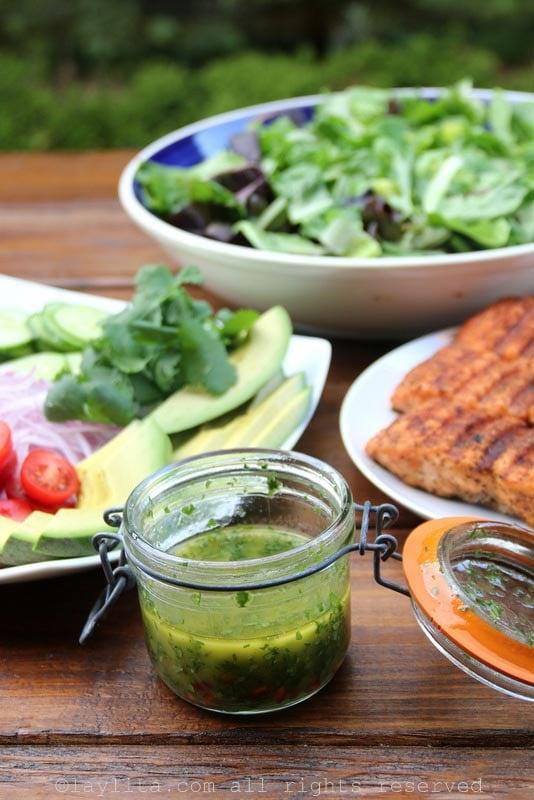 Sauce au citron vert, à la conriandre et au cumin