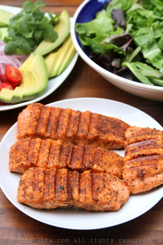 Grilled fish for a refreshing salad