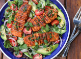 Grilled salmon and avocado salad recipe