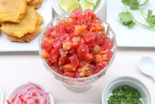 Salmon and tuna poke inspired ceviche