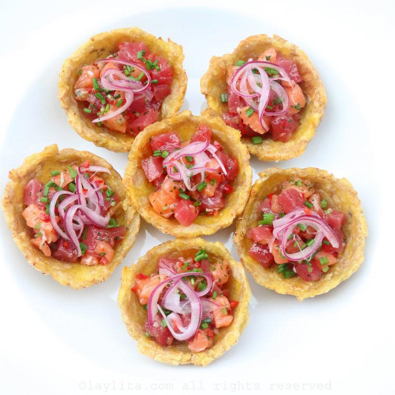 Salmon and tuna poke inspired ceviche - Laylita's Recipes