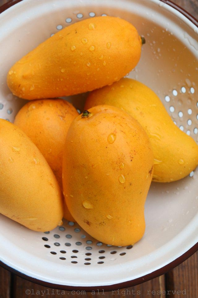Perfectly ripe mangos