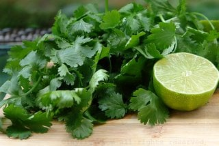 4- Cilantro and lime for the rice