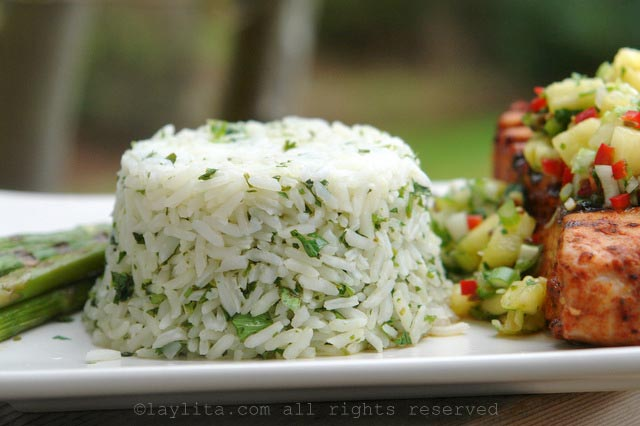 Easy cilantro rice recipe