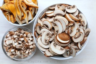 Assorted mushrooms to prepare soup