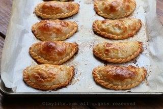 Bake the empanadas until golden on top