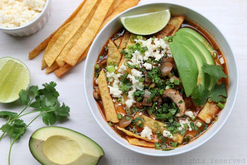 Central america archives laylitas recipes mushroom tortilla soup forumfinder Gallery