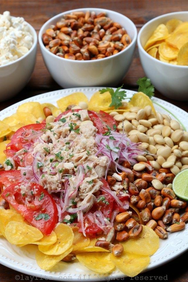 Ceviche volquetero or tuna fish ceviche