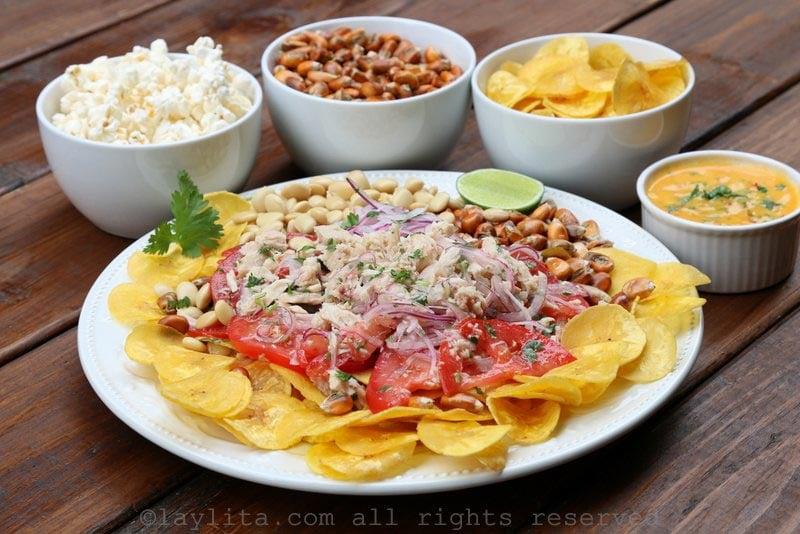 Tuna fish ceviche {Ecuadorian ceviche volquetero}