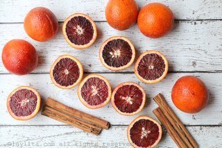 Blood oranges and cinnamon for a warm spiced cocktail