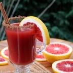 Blood orange canelazo cocktail